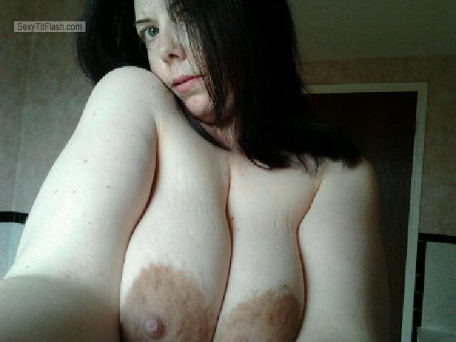 Tit Flash: My Very Small Tits - Topless Tracy from United Kingdom