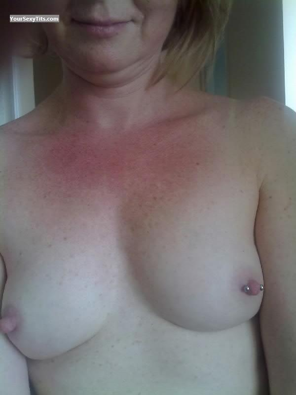 Tit Flash: Very Small Tits - For Daring from United KingdomPierced Nipples