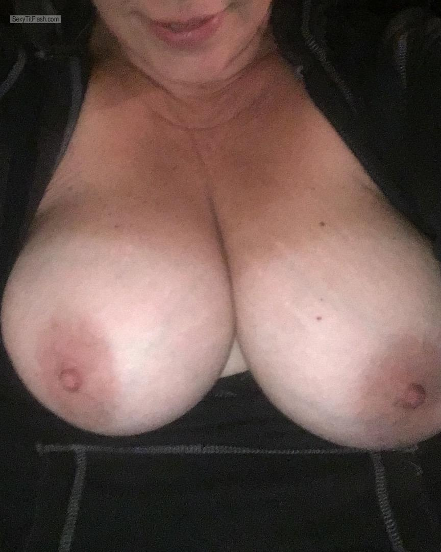 Tit Flash: My Tanlined Very Small Tits (Selfie) - Shan from United States