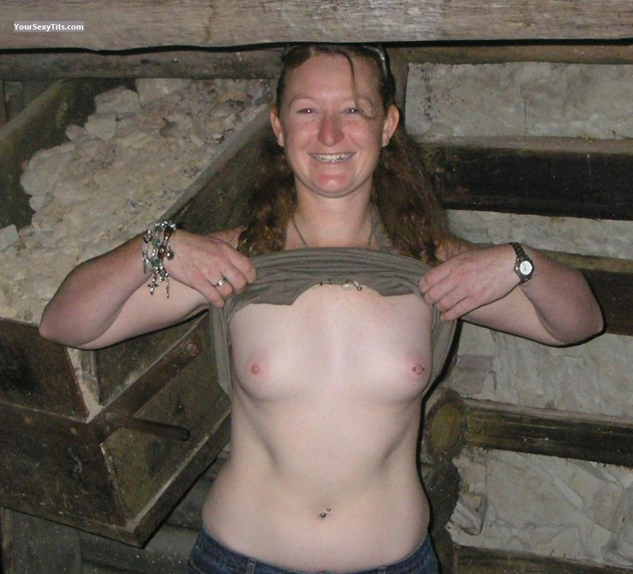 Tit Flash: Very Small Tits - Topless Shaz from AustraliaPierced Nipples