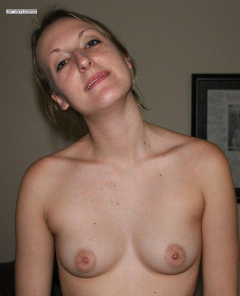 Tit Flash: Wife's Very Small Tits - Joy from United States