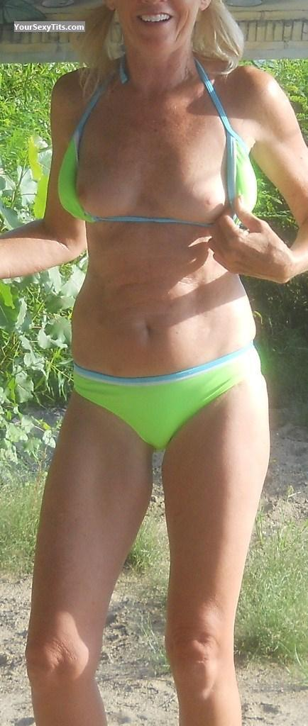 Tit Flash: Very Small Tits - MILF 56 from United States