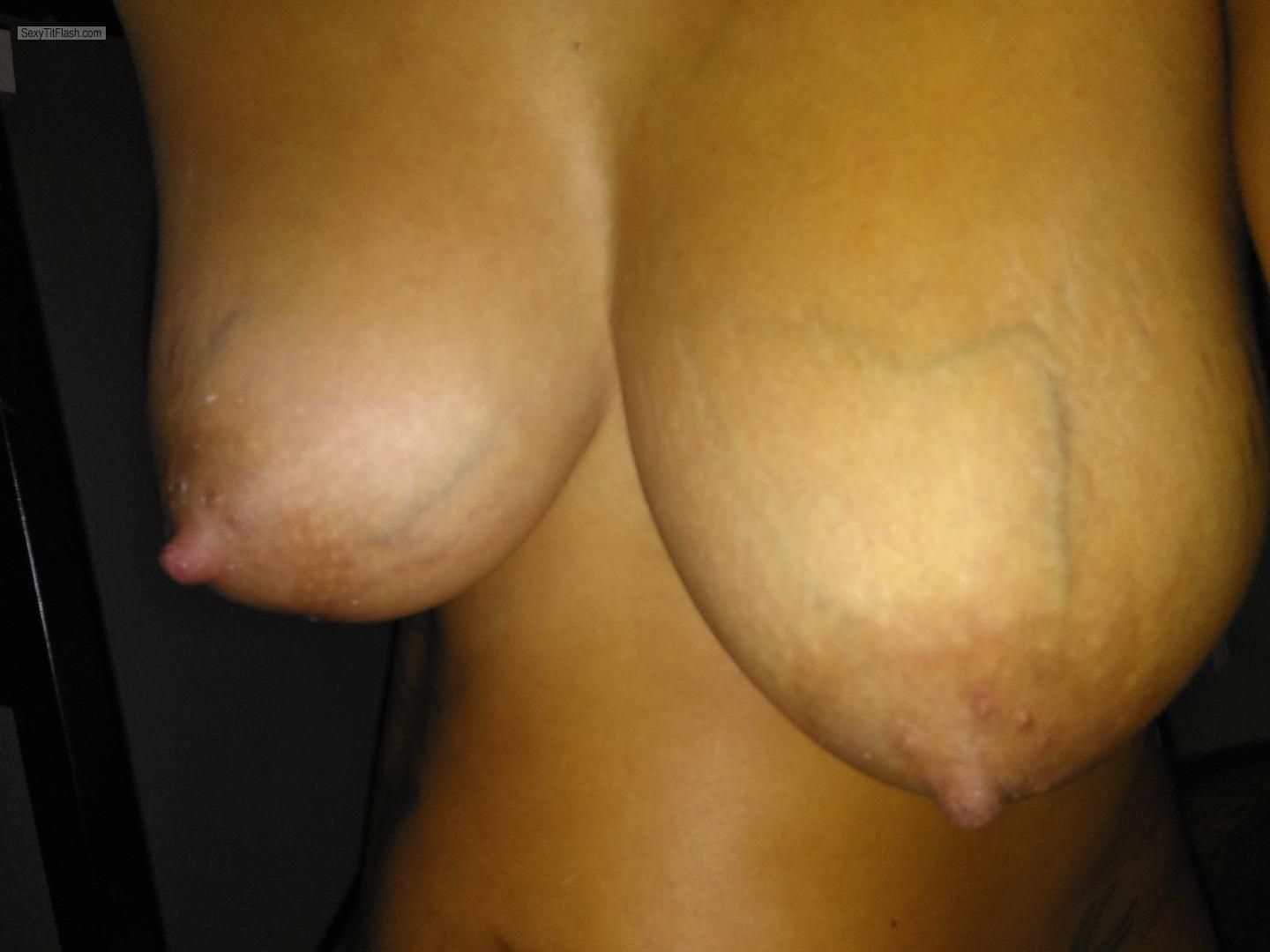 Tit Flash: My Very Small Tits - Topless Hot Girl from United Kingdom