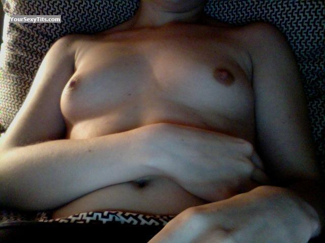 Tit Flash: My Very Small Tits (Selfie) - Erin from United States