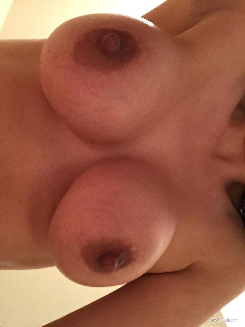 My Very small Tits Topless Wife Tits 4