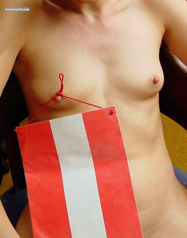 Tit Flash: Very Small Tits - Franziska from Austria