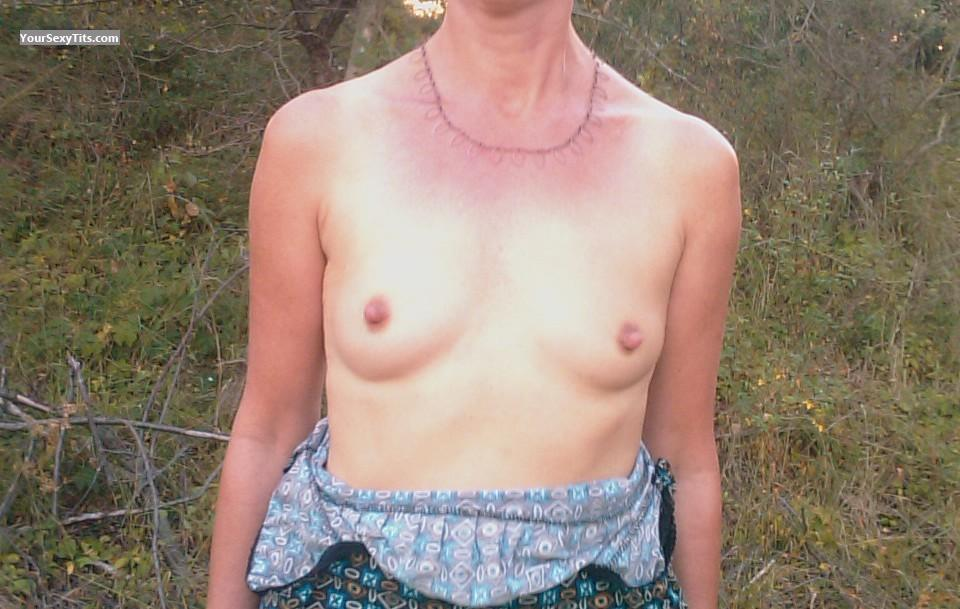 Tit Flash: Very Small Tits - My Wife from Belgium