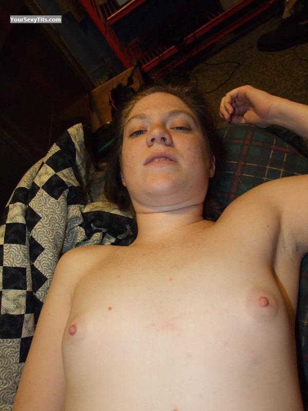 Tit Flash: Very Small Tits - Topless Leigh Ann from United States