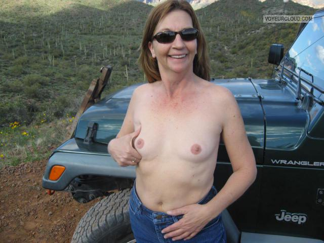 Very small Tits Of My Wife Topless Little Breasted