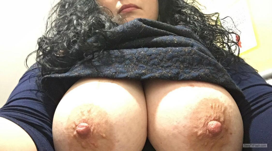 Tit Flash: Wife's Very Small Tits - Br0wn from United Kingdom