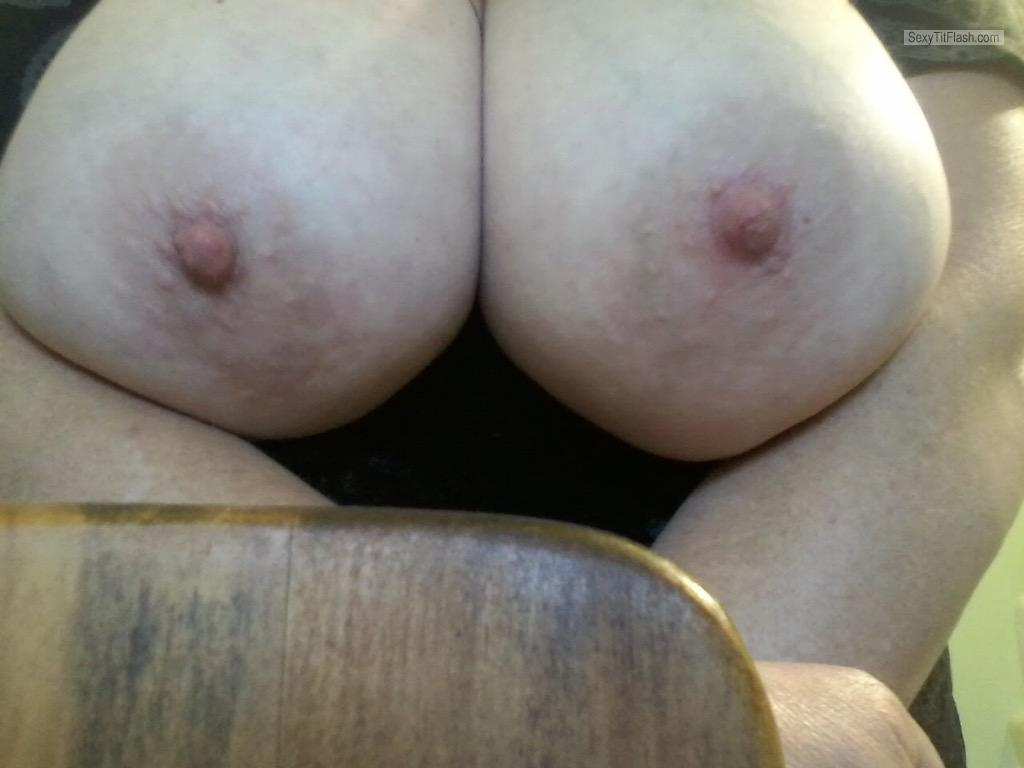 Tit Flash: My Very Small Tits (Selfie) - Sexy Grandma from United States