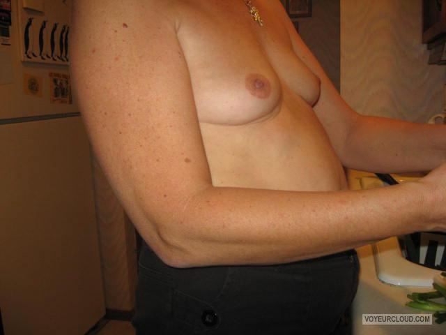 Tit Flash: Wife's Very Small Tits - Little Breasted from United States