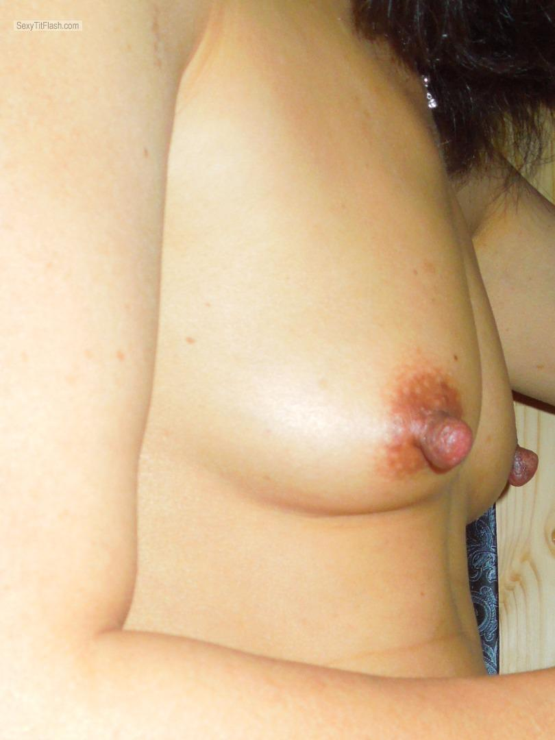 Tit Flash: My Very Small Tits - Hot Asian Wife from United Kingdom